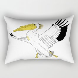 Petra the Pelican Rectangular Pillow