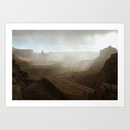Storm in Canyonlands National Park Art Print