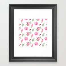 Tropical Chill Rose Framed Art Print