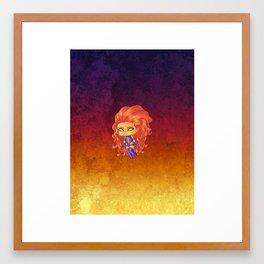 Chibi Starfire Framed Art Print