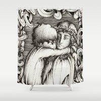 thranduil Shower Curtains featuring Family portrait by Anca Chelaru