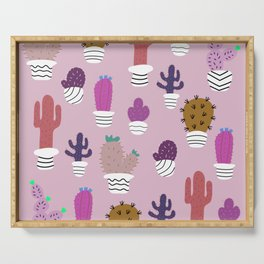 Sedona arizona desert blooms Serving Tray