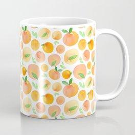 Watercolor Peaches Pattern Coffee Mug