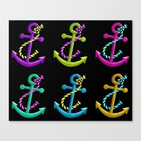 anchors Canvas Prints featuring Anchors by foreverwars