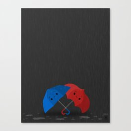 Blue&Red Canvas Print