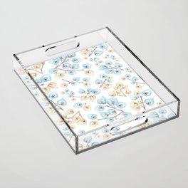 Botanical illustration Acrylic Tray