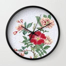 Floral bonanza Wall Clock