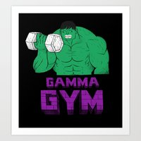 gym Art Prints featuring gamma gym by Louis Roskosch