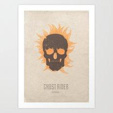 Ghost Rider - minimal poster Art Print