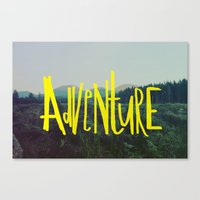 adventure Canvas Prints featuring Adventure by Leah Flores