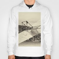 aviation Hoodies featuring Airplane by DistinctyDesign