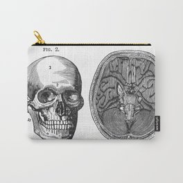 Front view of the head and lower surface of the brain Carry-All Pouch