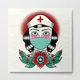 Nurse Hero Metal Print