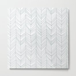 Hipster Bohemian Rustic Arrow Pattern Print Metal Print