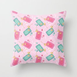 The baby blanket Throw Pillow