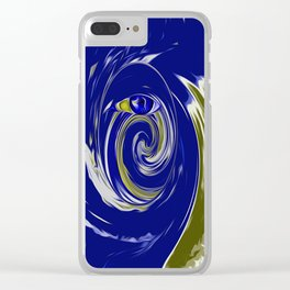 blue eye Clear iPhone Case