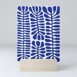 Blue seaweed hanging Mini Art Print