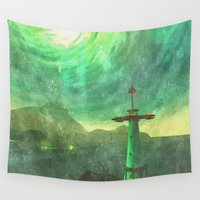 lighthouse Wall Tapestries featuring Lighthouse by Foxxya