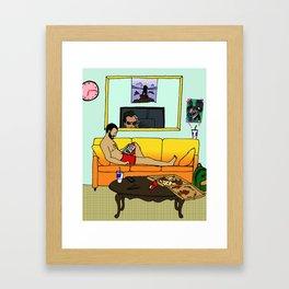 After Work Framed Art Print