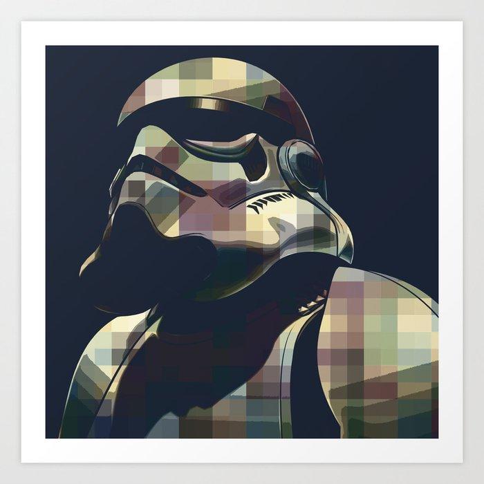 star war storm trooper color square movies inspiration art print