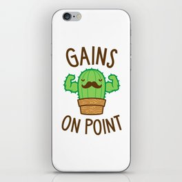 Gains On Point (Cactus Pun) iPhone Skin