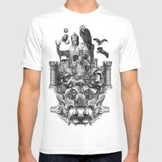 warlock Mens Fitted Tee White MEDIUM