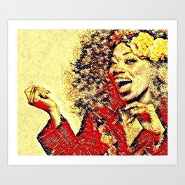 Ebony Joy Art Print