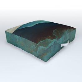 Indigo Mountains Outdoor Floor Cushion
