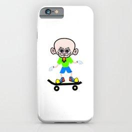 Big Headed Skateboarder iPhone Case