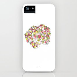 Iced Flower Hearts iPhone Case