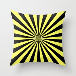 Starburst (Black & Yellow Pattern) Throw Pillow