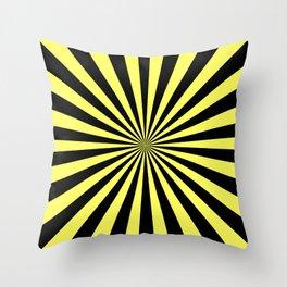 Starburst (Black & Yellow Pattern) Throw Pillow