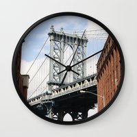 dumbo Wall Clocks featuring DUMBO by Christian Hernandez
