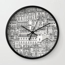 Bath toile black silver Wall Clock
