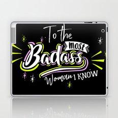 Badass Woman Laptop & iPad Skin