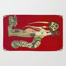 "Art Deco Design ""Asia Princess"" by Erté Rug"