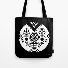 Priest Circle- black on black Tote Bag