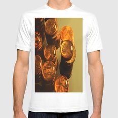A Penny For Your Thoughts. White Mens Fitted Tee MEDIUM