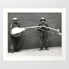 Utility Workers Art Print