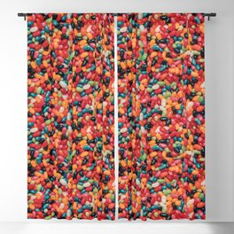 Vintage Jelly Bean Real Candy Pattern Blackout Curtain