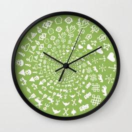 Greenery Love Symbol Mandala Wall Clock