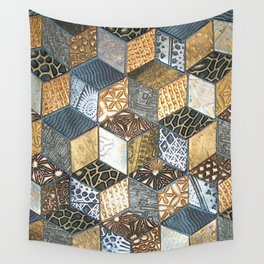 Tumbling Blocks #2 Wall Tapestry