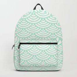 Mint Green Mermaid Scales Backpack