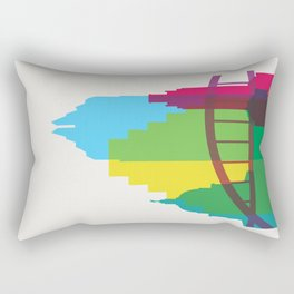 Shapes of Austin. Accurate to scale. Rectangular Pillow
