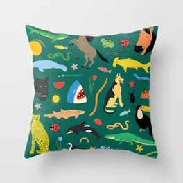 Lawn Party Throw Pillow