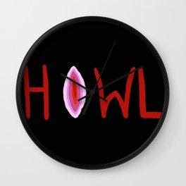 V Howler - black Wall Clock