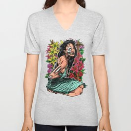 BEAUTIFUL AND FLOWERS Unisex V-Neck