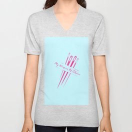 My Weapon Of Choice Funny Pun Sewing Sew Unisex V-Neck