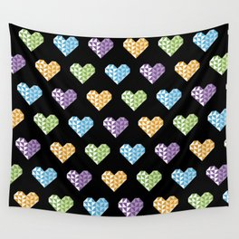 polygons in my heart Wall Tapestry