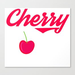 """A Bombing Tee For Bombers Saying """"Cherry Bomb"""" T-shirt Design Cherry Fruit Red Dessert Foods Eat Canvas Print"""